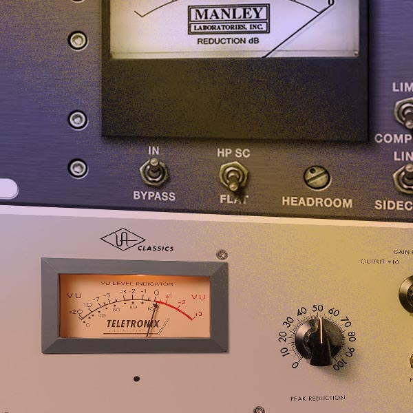 What are the different types of audio compressor?